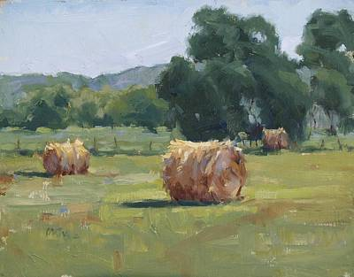 Haybale Painting - Solitude by Judy Crowe