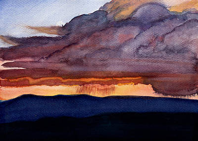 Summer Thunderstorm Painting - Solstice Sunset by Julie Atkinson