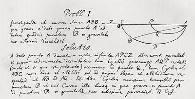 Newton Drawing - Solution Of The Problem Of The by Vintage Design Pics
