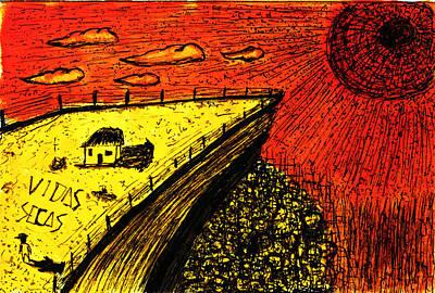 Abstract Painting - Sombras E Vidas Secas by Fernando Cerqueira