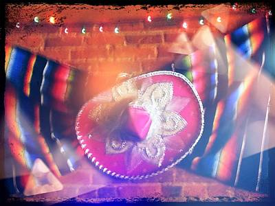 Poncho Digital Art - Sombrero And Poncho by Sera Seely