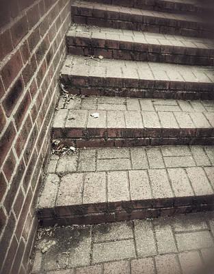 Some Brick Steps Print by Tom Gowanlock