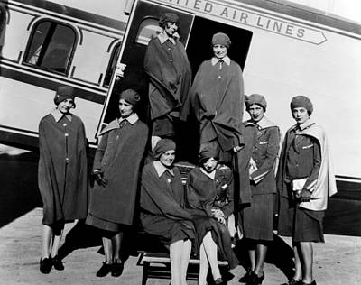 Some Of The First Stewardesses Print by Everett