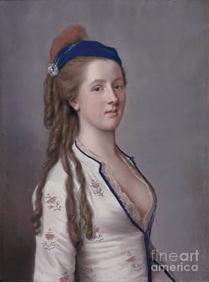 Girl Painting - Somersert Countess Of Northampton by Liotard