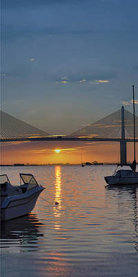 Something About A Sunrise Triptych 2 Print by Bill Cannon