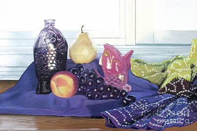 Pear Painting - Something Fishy by Cindy Lee Longhini