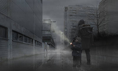 Helsinki Finland Digital Art - Something In The Mist by Tomi Palonen