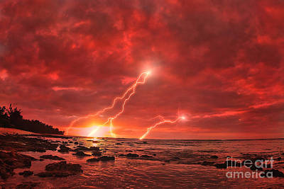 Lightning Photograph - Something Wicked by Paul Topp