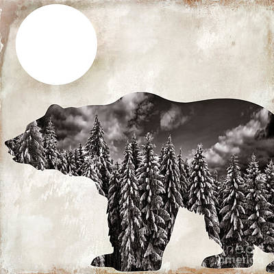 Something Wild Bear Print by Mindy Sommers