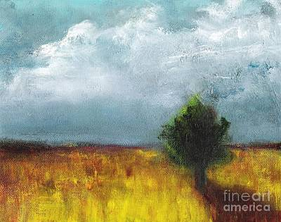 Impressionistic Landscape Painting - Sometimes The Light Is Just Right by Frances Marino