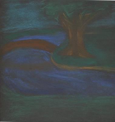 Somewhere At Night Print by Alexandra Mallory