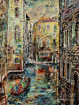 Grande Painting - Somewhere In Venice by Alfred Motzer