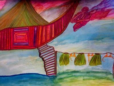 Leaf Painting - Somewhere  by Stephanie Zelaya