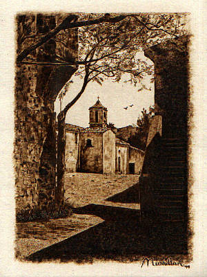 Custom Reproductions Pyrography - Somewhere'n Toscana by Dino Muradian