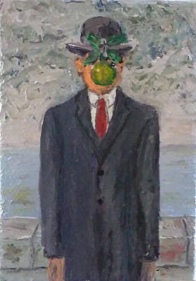 Rene Magritte Painting - Son Of Man Tiny Reproduction by John Hehir