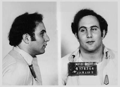 Son Of Sam David Berkowitz Mug Shot 1977 Horizontal  Print by Tony Rubino