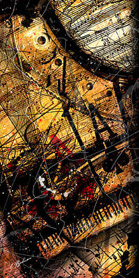 Sonata In Ace Minor Panel 3 Print by Gary Bodnar