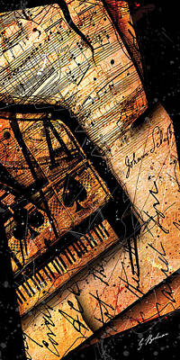 Beethoven Digital Art - Sonata In Ace Minor Panel I by Gary Bodnar