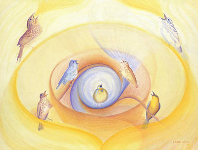 Near Death Experience Painting - Song Birds Calling by Robin Aisha Landsong