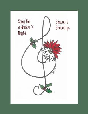 Simplicity Drawing - Song For A Winter's Night by Jacquie King