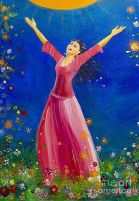 Sundance Painting - Song Of Happiness by Barbara Klimova