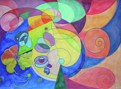 Geometric Painting - Song Of The Celanderole by Laura Joan Levine