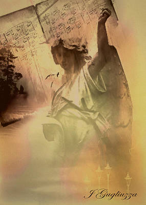Angelic Digital Art - Songs Of Angels by Jean Gugliuzza