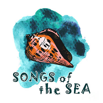 Songs Of The Sea Print by Gaspar Avila