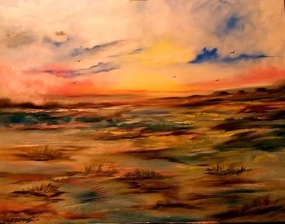 Sonnenuntergang Auf Der Insel Foehr Original by Eva Borowski