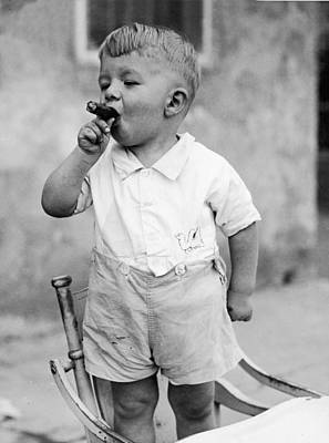 Mischief Photograph - Sonny Smokes A Cigar by Fpg