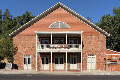49er Photograph - Sonora California Opera House Dsc4572 by Wingsdomain Art and Photography