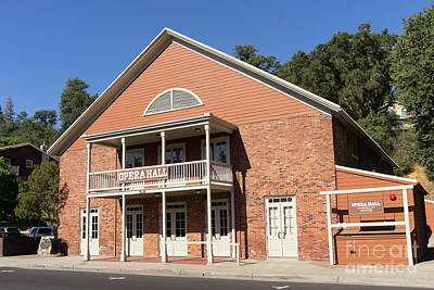 49er Photograph - Sonora California Opera House Dsc4576 by Wingsdomain Art and Photography