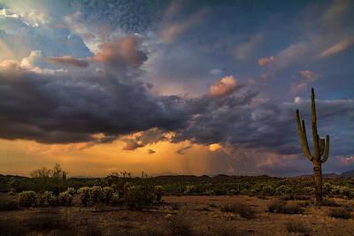 Rainy Day Photograph - Sonoran Sunset Rain  by Saija Lehtonen