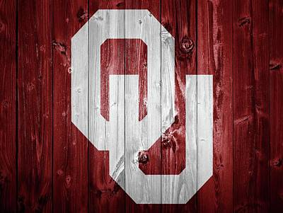 Oklahoma University Mixed Media - Sooners Barn Door by Dan Sproul