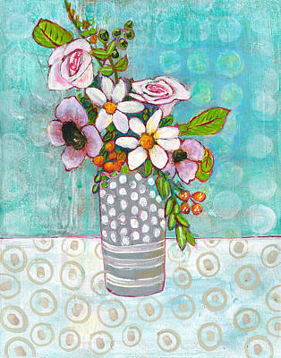 Daisies Painting - Sophia Daisy Flowers by Blenda Studio