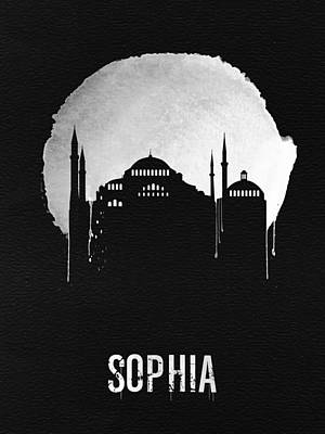 Bulgaria Digital Art - Sophia Landmark Black by Naxart Studio