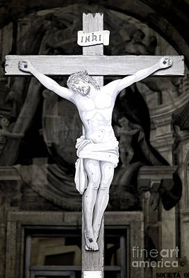 Sorrento Crucifix Print by John Rizzuto