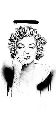 Young Money Mixed Media - Soul Not For Sale Marilyn Monroe Iphone 6 Plus Cover Case 2016 by BRAILLIANT Contemporary Fashion Pop Art Prints