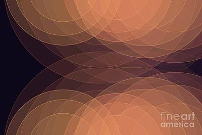 Digital Art - Soul Semi Circle Background Horizontal by Frank Ramspott