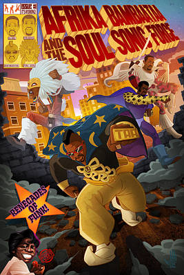 Hip Hop Drawing - Soul Sonic Force by Nelson  Dedos Garcia