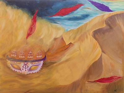 Mystic Desert Painting - Soulstorm by Neslihan Ergul Colley