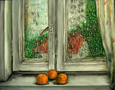 Sound Of Rain  Oil Painting Print by Natalja Picugina