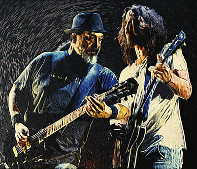 Conspiracy Digital Art - Soundgarden by Taylan Apukovska