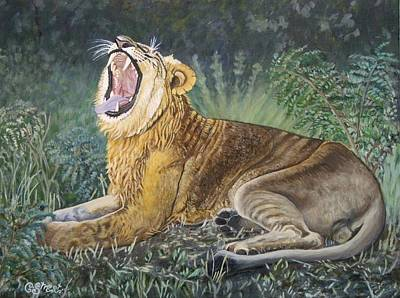 Growling Painting - Sounds Of Africa  by Caroline Street