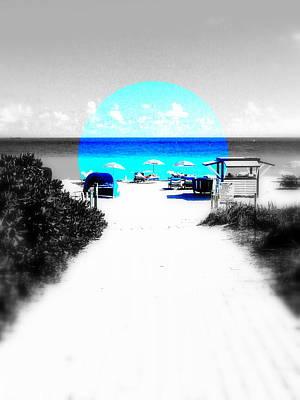 South Beach Blues Print by Funkpix Photo Hunter
