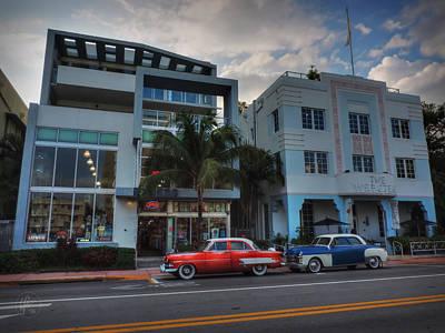 Car Photograph - South Beach - Collins Avenue 002 by Lance Vaughn