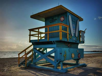 South Beach Lifeguard Station 003 Print by Lance Vaughn