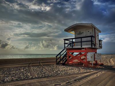 South Beach Lifeguard Station 004 Print by Lance Vaughn