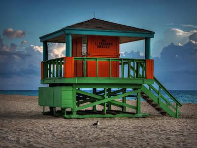 South Beach Lifeguard Station 005 Print by Lance Vaughn