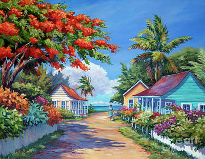 Bahamas Landscape Painting - South Church Street by John Clark